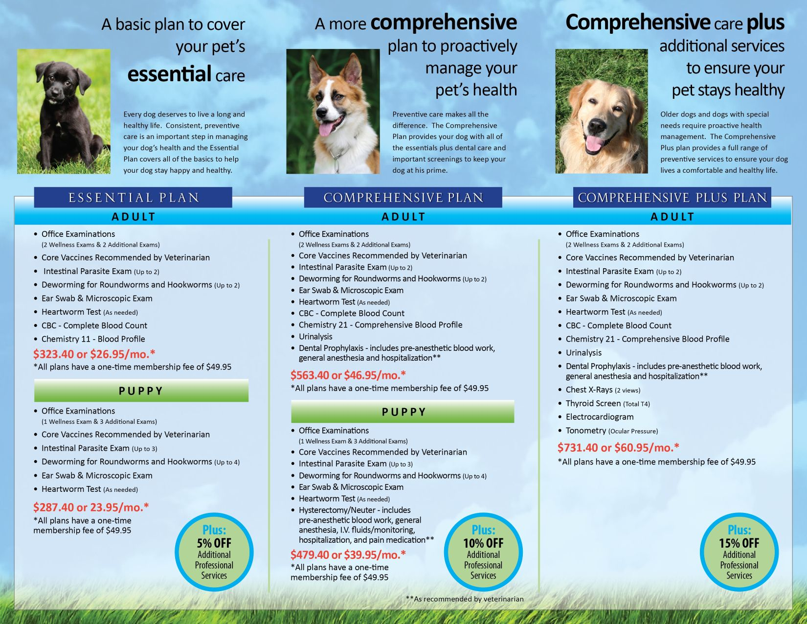 countryside pet clinic annual wellness plans