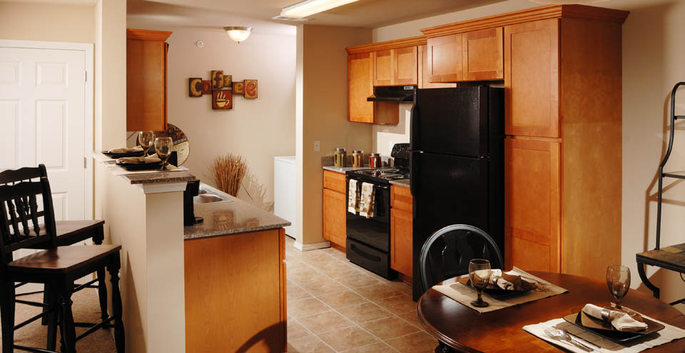 Apartments in Branson have spacious kitchens