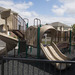 Kids can play at the playground at apartments in Manhattan