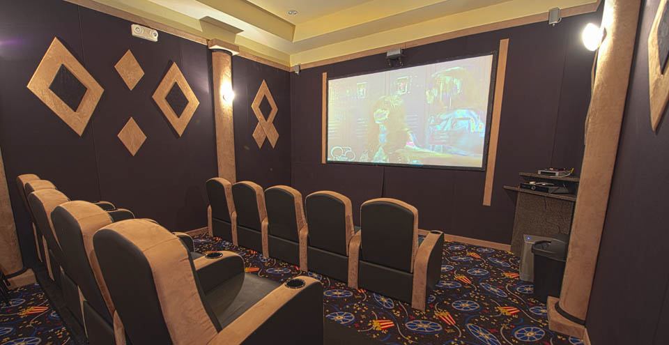 Manhattan apartments have a comfortable movie theater