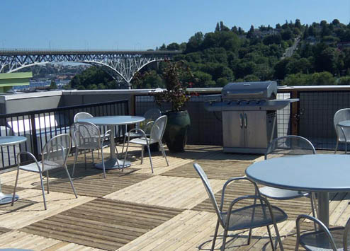 Rooftop deck at Epicenter Apartments Seattle