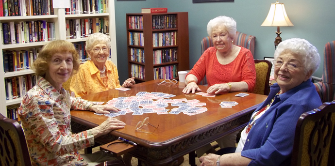 Residents having fun at senior community in kansas city mo