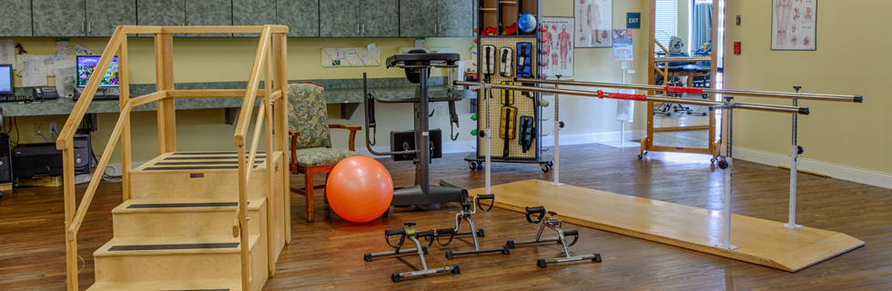 Fitness center at independent living in mesquite tx