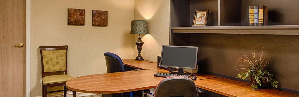 Business center at senior apartments in desoto tx
