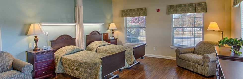 Spacious bedrooms at independent living in desoto tx
