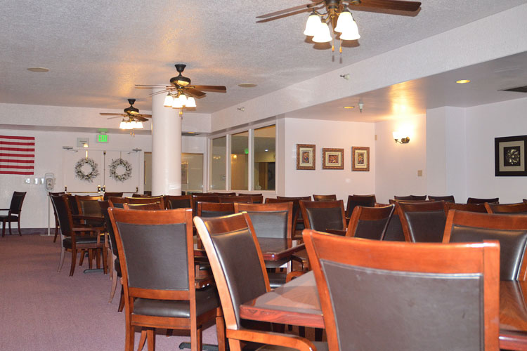 Open dining room at Corcord senior living community