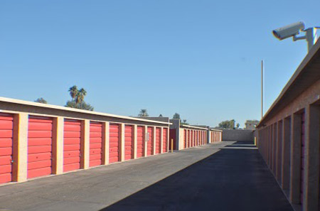 Exterior storage units at StorQuest on Indian School Rd.