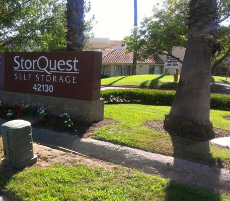 StorQuest Self Storage Temecula sign