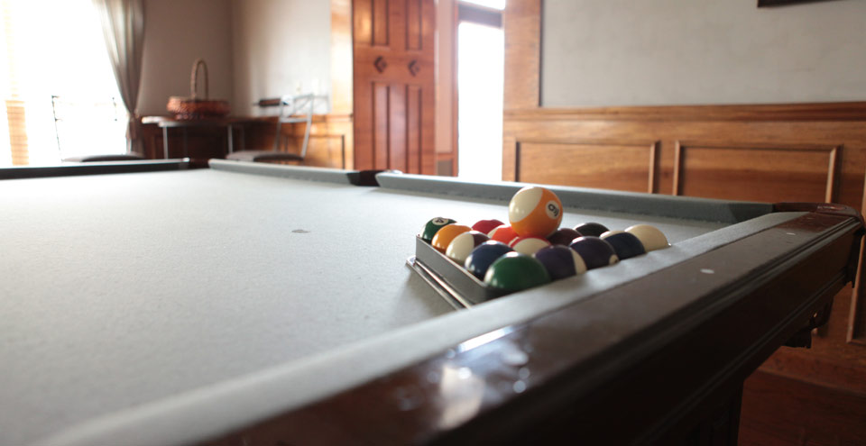 Billiards in an apartment complex in Carmel