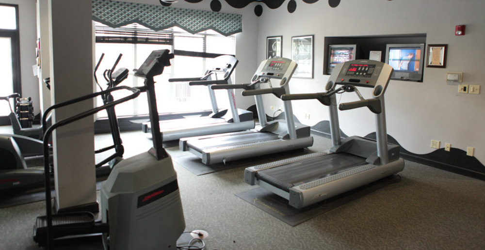 Fitness room for Carmel apartment community