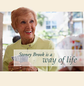 Residents of Stoney Brook of Copperas Cove assisted living play games.