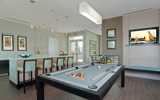 Billiards room at apartments in Chesapeake