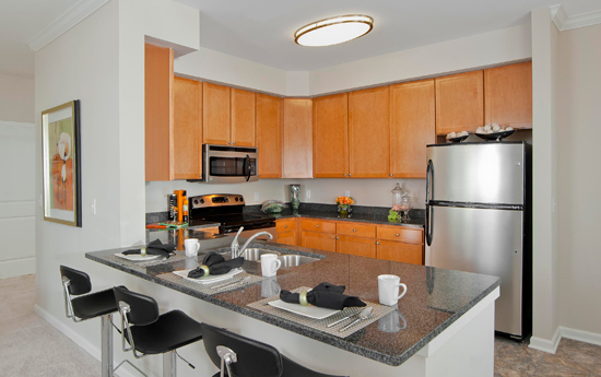 Modern kitchens at apartments in Chesapeake va