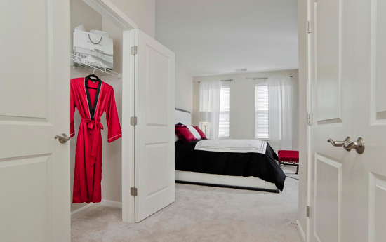 Spacious bedrooms at the morgan apartments chesapeake