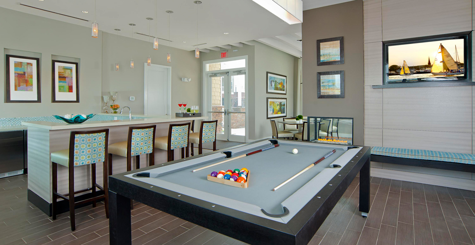Billiards room at Chesapeake apartments va