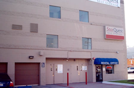 Entrance to Los Angeles self storage