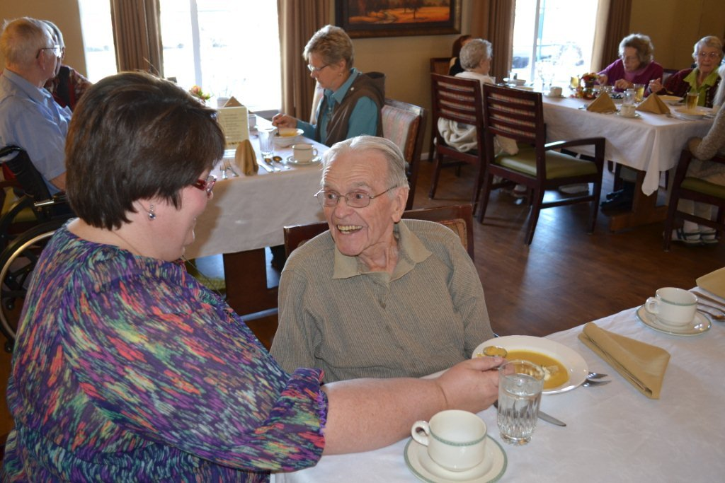 Bozeman highgate dining hall with residents