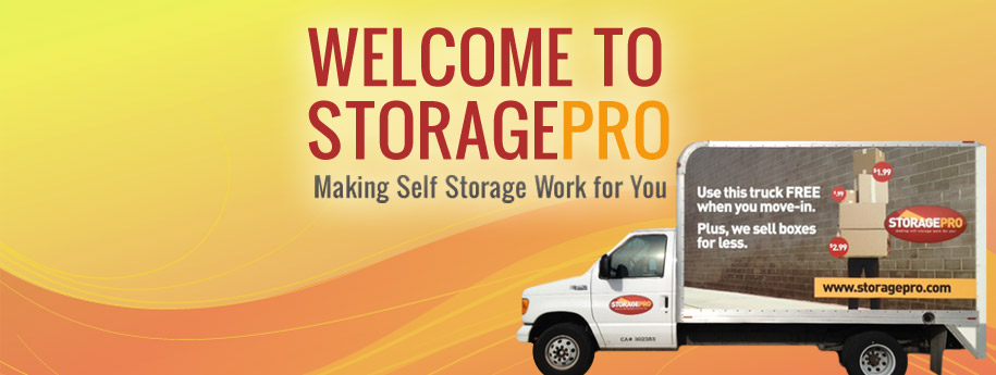 Storage Pro provides a moving truck for customers.
