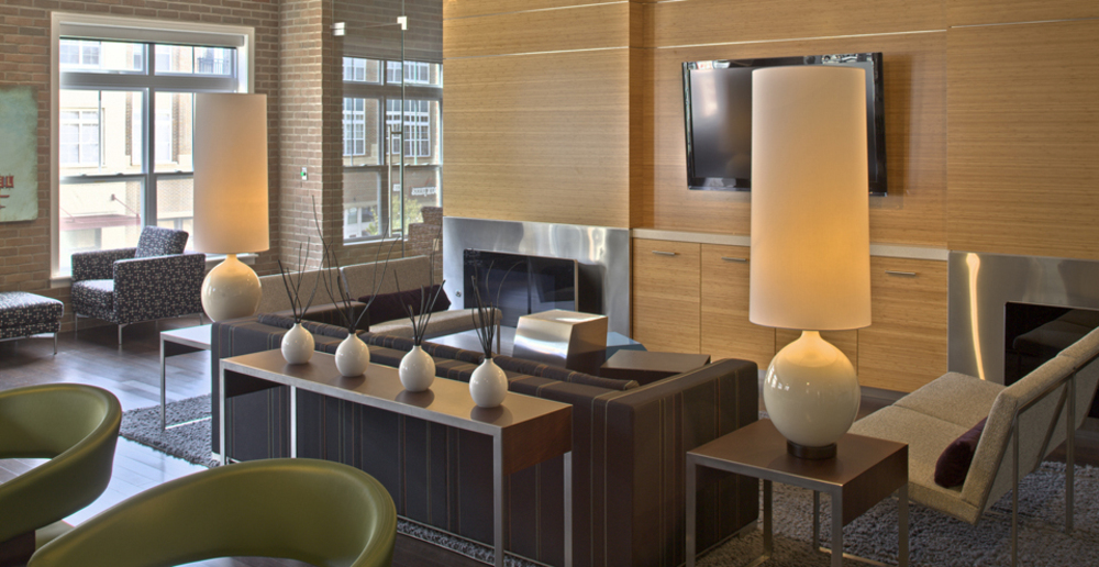 Hang out in the clubhouse at apartments in South Bend