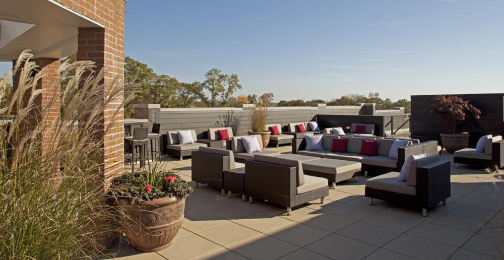 Relax on the sun deck at South Bend apartments