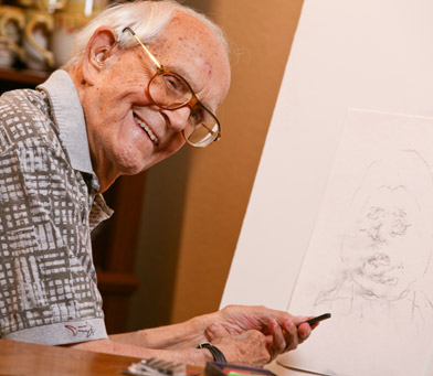 Clearfield senior living resident artist