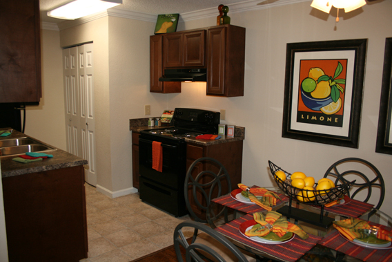 Kitchen for entertaining in Hoover apartments