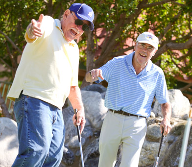 Huntington beach senior living golfers