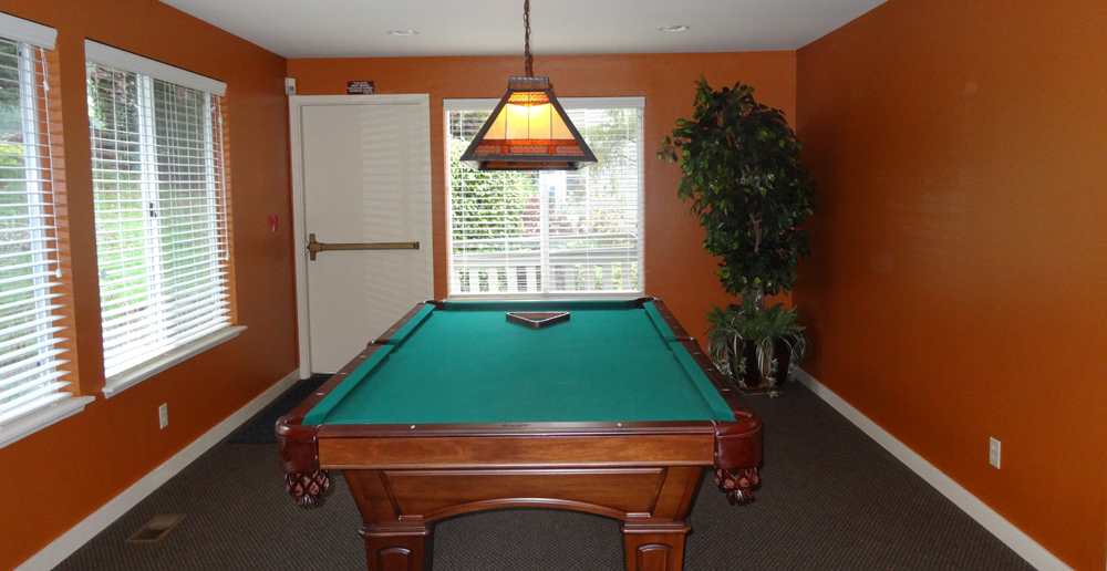 Pool table at Lynwood apartments