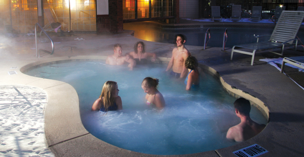 Provo student housing hot tub