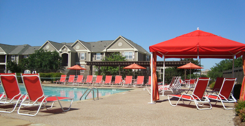 Swimming pool at student housing in denton
