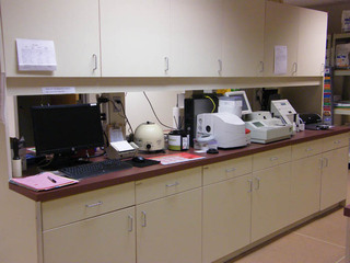 A main lab area in a Virginia animal hospital