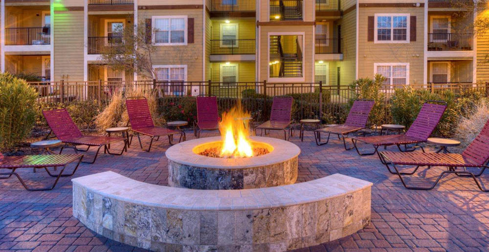 College station fire pit at student housing