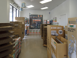 Magnolia self storage facility has packing supplies