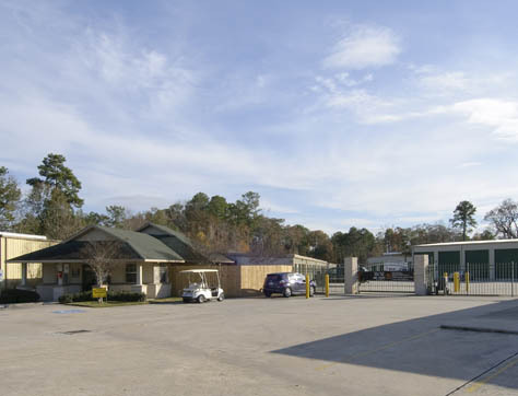 Streetview of self storage facility in Spring