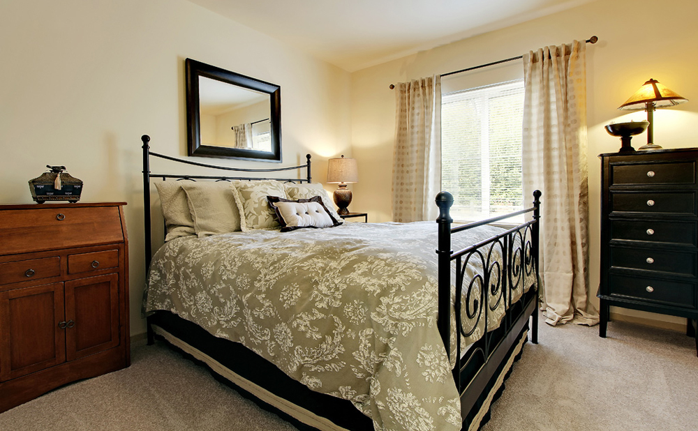 Bedroom at Kent senior living community