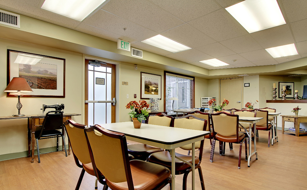 Craft room at Kent senior living