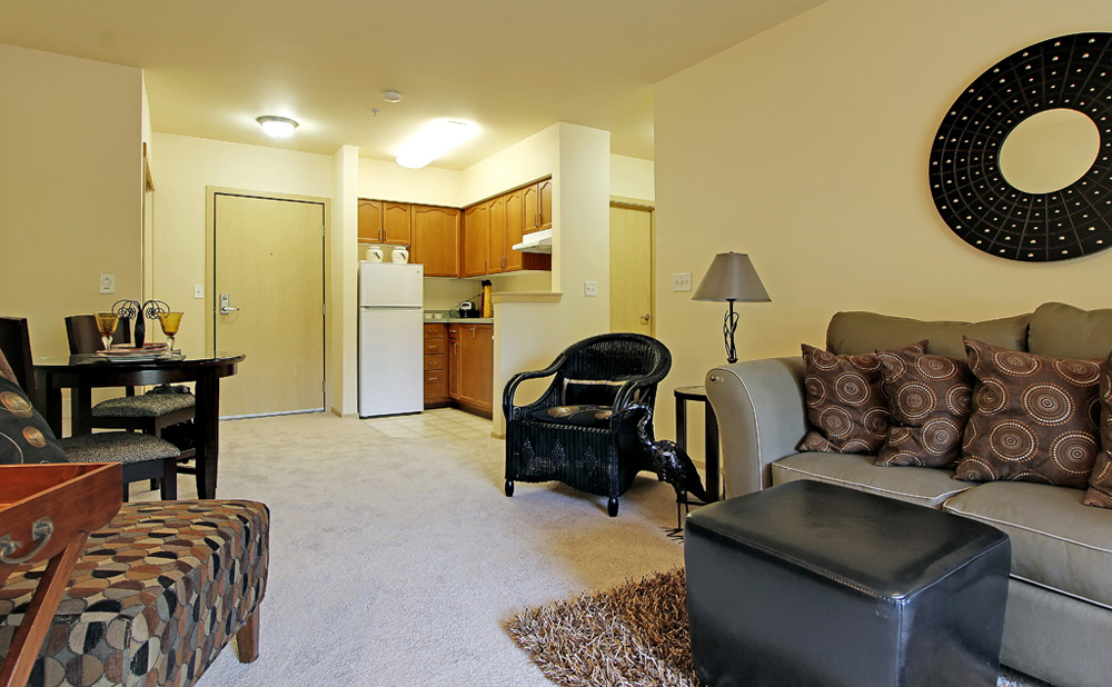 Kent senior living has open floor plans