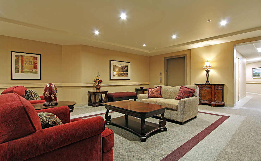 Kent senior living sitting room