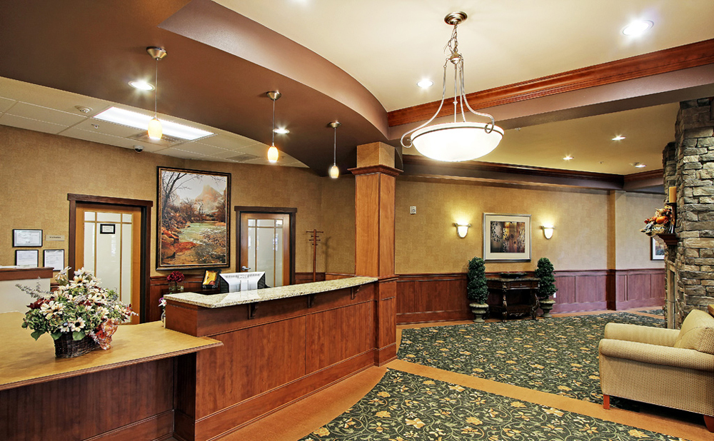 Reception at senior living in Kent
