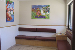 Waiting room at vet clinic in kenmore