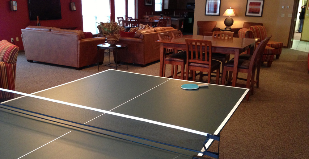 Ping pong table at Lafayette apartments
