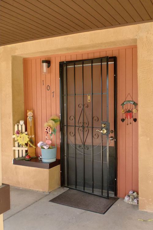 Welcoming doorway featured at Pleasant Hill