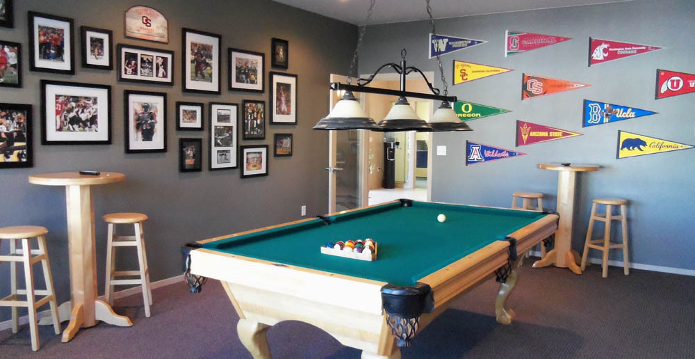 Billiards room at Corvallis student apartments