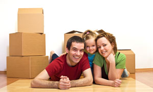 Family packing boxes for self storage