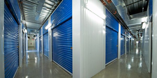 Multi story hallway at BullsEye storage