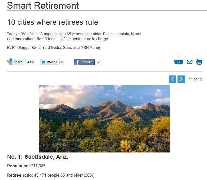 "Maravilla Scottsdale Located in ""Top City Where Retirees Rule"""