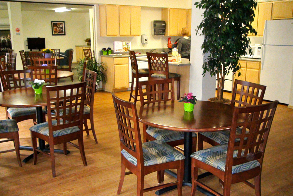 Demonstration kitchen and clubhouse at Seattle apartments