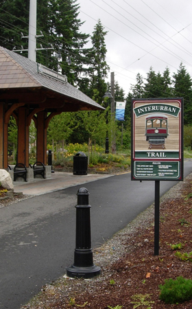 Interurban trail near affordable senior living community in Seattle