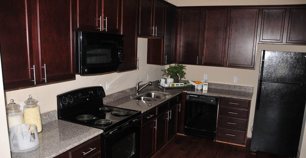 Apartments in Huntsville have modern kitchens