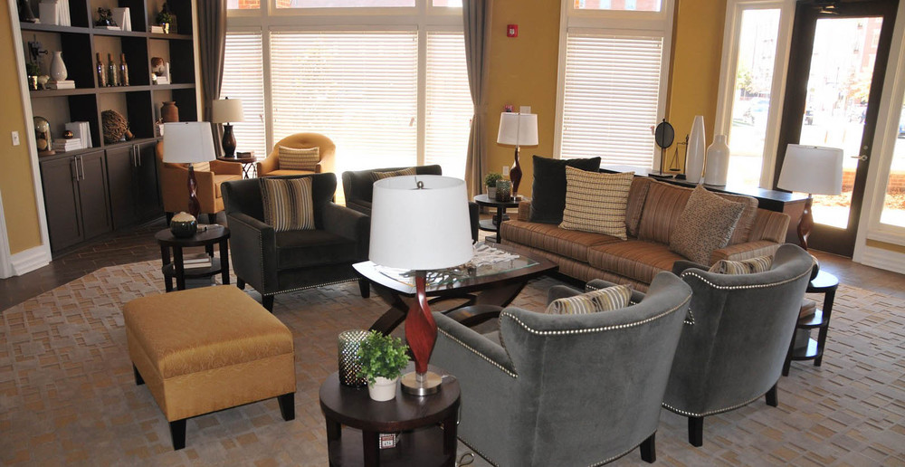 Clubhouse living room at Huntsville apartments